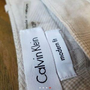 Calvin Klein cream slacks